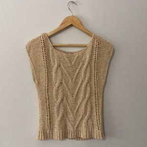 Forever 21 Beige Knit Shirt Size Small